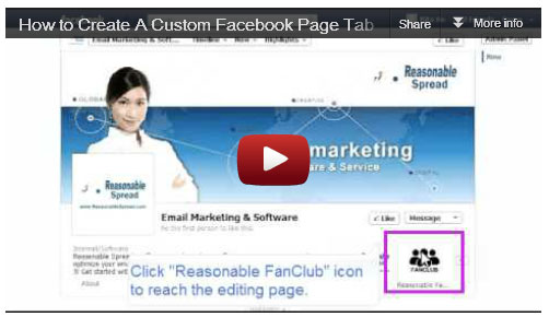 Facebook Fanpage YouTube Video